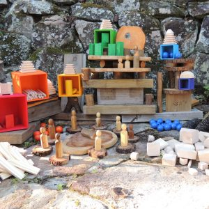 Plain Wooden And Coloured Loose Parts World Creation