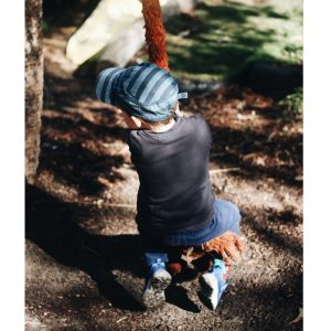 Young Boy On Sensory System Rope Swing