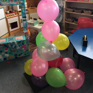 Balloon Tower Complete Classroom Setting Kitchen Background
