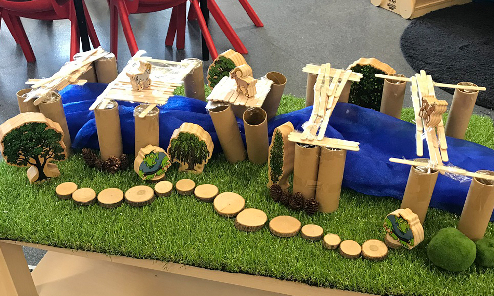 Early Stem Activities Forest Landscape With Billygoat Bridge