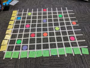 Location And Coordinates Grid Grey Carpet Number Letter
