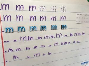 Whiteboard Letter Formation For Letter M