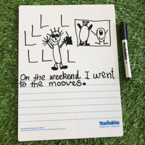 Picture Story Whiteboards On Grass
