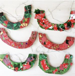 Hanging Christmas Craft Necklace Decorations