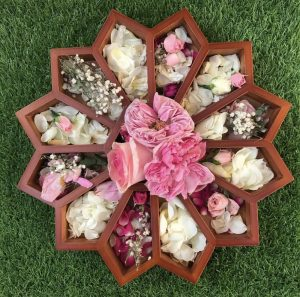 Flower Sorting Tray Filled With Natural Resources