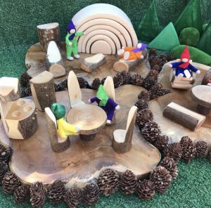 Small World Creation Table & Chairs With Figurines