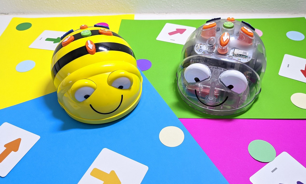 Beebot Bluebot on directional coding mat